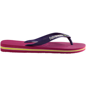 havaianas Brasil Logo Flips Kids raspberry rose/new purple
